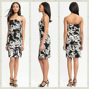 Banana Republic Abstract Floral Strapless dress 6